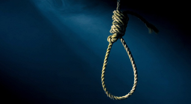 hangman noose with a dramatic background
